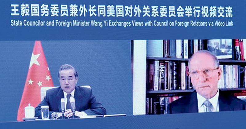 王毅:美對華政策沒走出前朝陰影 稱民主非可口可樂 全世界一個味道