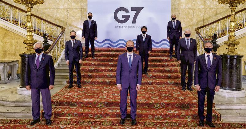 G7公報轟華侵港疆人權  北京譴責  斥改港選制   促遵聯合聲明基本法