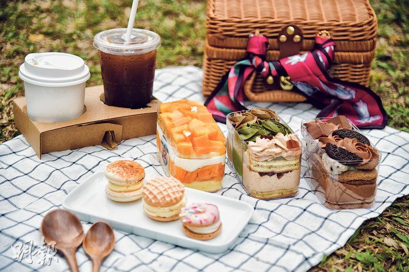 盒子蛋糕胖卡龍 人氣野餐吸心