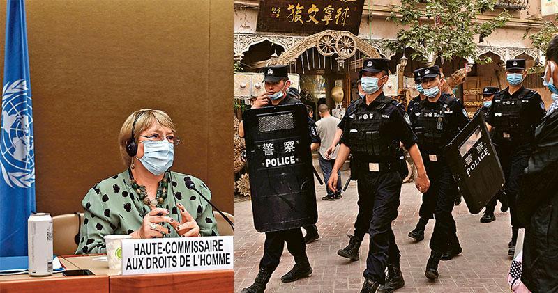 聯國人權專員:望年內訪新疆  稱侵犯人權報告續現  京斥失實:歡迎參訪非「調查」