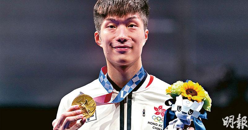 上月才滿24歲的劍神張家朗(圖)為港隊奪得隊史第2面奧運金牌。(楊柏賢攝)