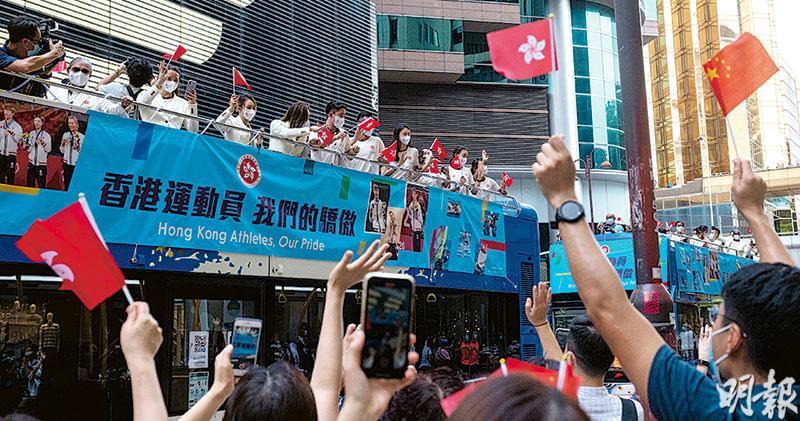 港隊祝捷 伍家朗:港人支持成動力 「令我們更自豪運動員身分」 不回望東奧失利