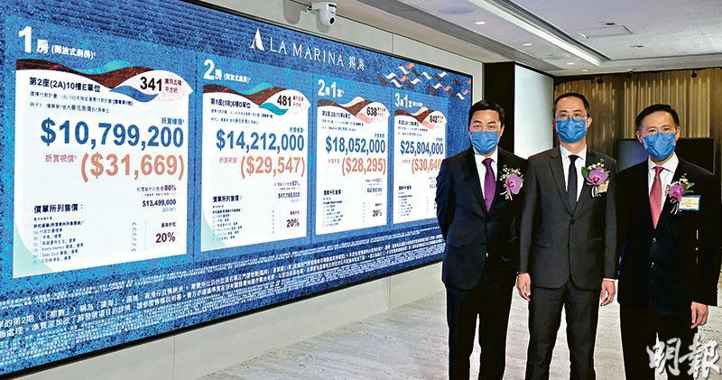 揚海首批均呎破3萬 貴晉環4%  港鐵上蓋項目新高 1房折實1080萬入場