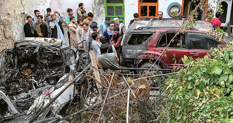 美媒:軍方錯炸阿富汗救援組織職員 美軍稱搗ISIS-K炸機場陰謀 報道揭非炸藥車