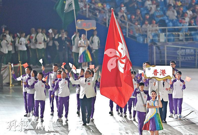 全運會開幕 港劍擊隊領銜爭牌 張家朗下周日出鞘 攀石代表歐智鋒為港持旗亮相